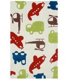 RugStudio presents The Rug Market America Kids Voyage Cream 74028 Red/green/cream Hand-Hooked Area Rug